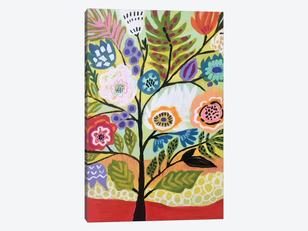 Flower Tree II by Karen Fields 1-piece Canvas Artwork
