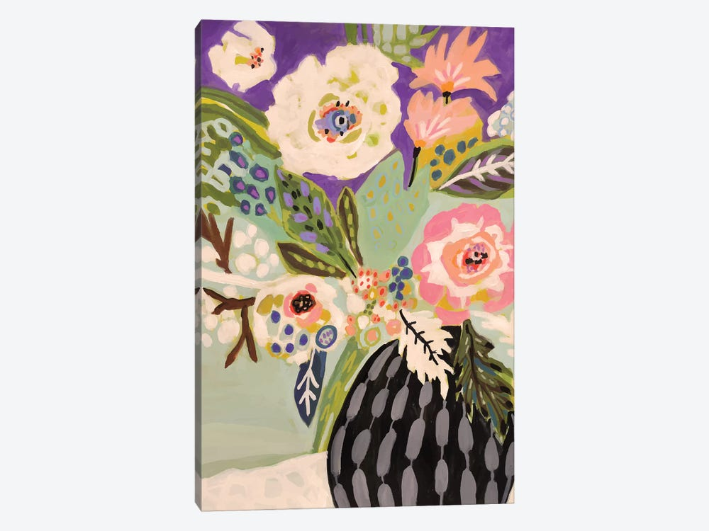 Fresh Flowers In Vase I by Karen Fields 1-piece Canvas Print