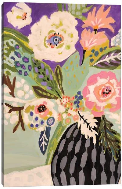 Fresh Flowers In Vase I Canvas Art Print