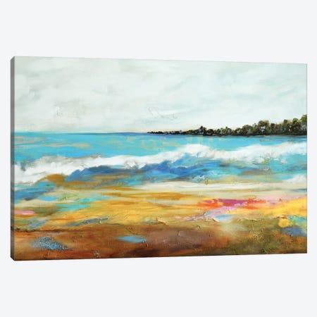Beach Surf II Canvas Print #KFI6} by Karen Fields Canvas Wall Art
