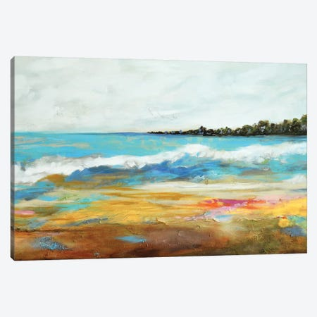 Beach Surf II Canvas Print #KFI6} by Karen Fields Canvas Wall Art