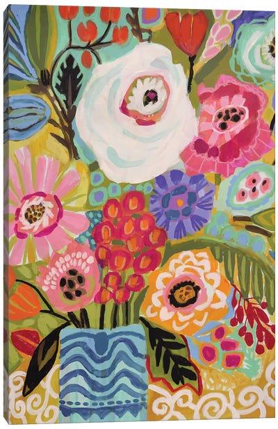 Fresh Flowers In Vase II Canvas Art Print