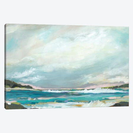 Seaside View III Canvas Print #KFI73} by Karen Fields Canvas Wall Art