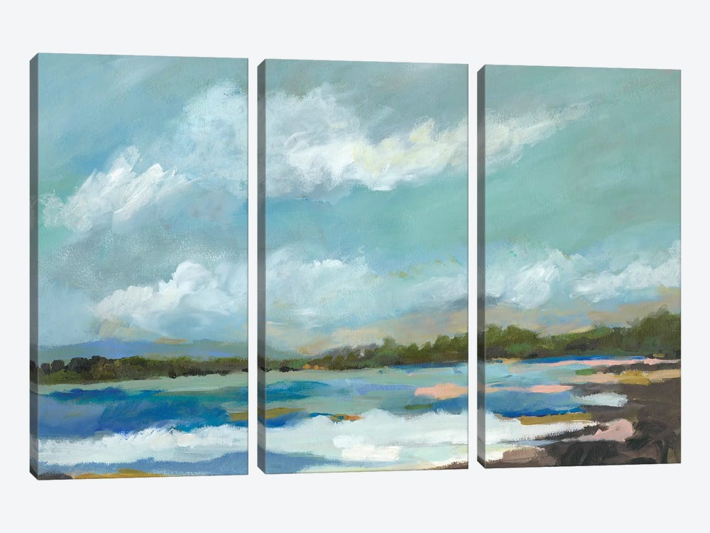 Seaside View IV by Karen Fields 3-piece Canvas Art Print