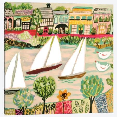 Smooth Sailing I Canvas Print #KFI75} by Karen Fields Art Print
