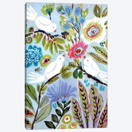 Bird Love I Canvas Print #KFI79} by Karen Fields Canvas Artwork