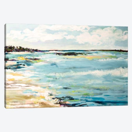 Beach Surf III Canvas Print #KFI7} by Karen Fields Canvas Wall Art
