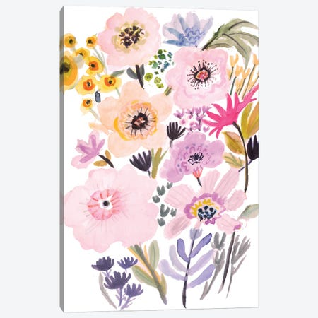 Flower Posy V Canvas Print #KFI85} by Karen Fields Canvas Artwork