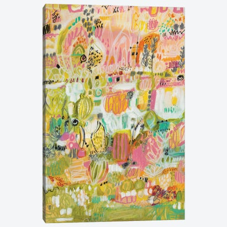 Boho Garden I Canvas Print #KFI8} by Karen Fields Canvas Print