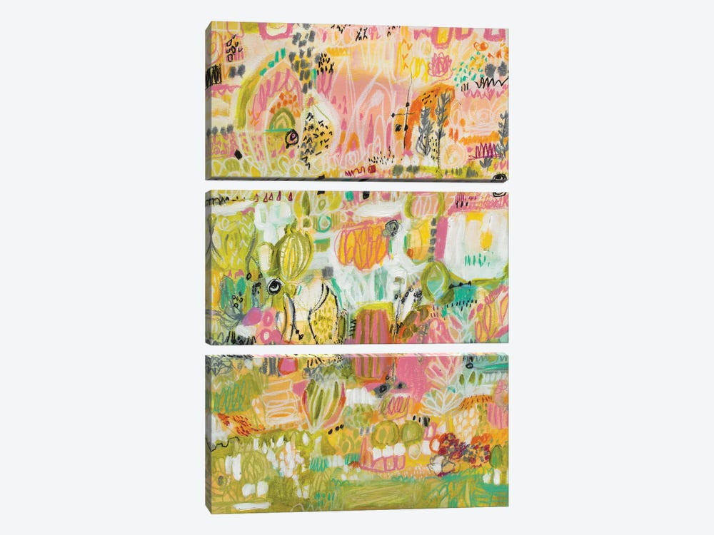 Boho Garden I by Karen Fields 3-piece Canvas Print