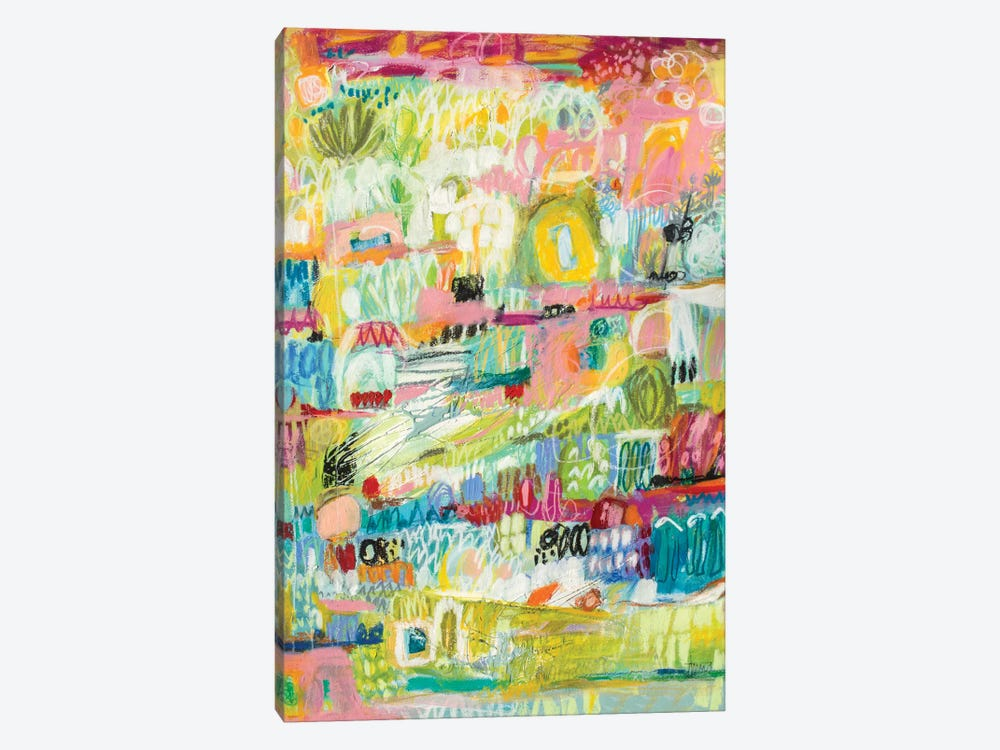 Boho Garden II by Karen Fields 1-piece Canvas Artwork