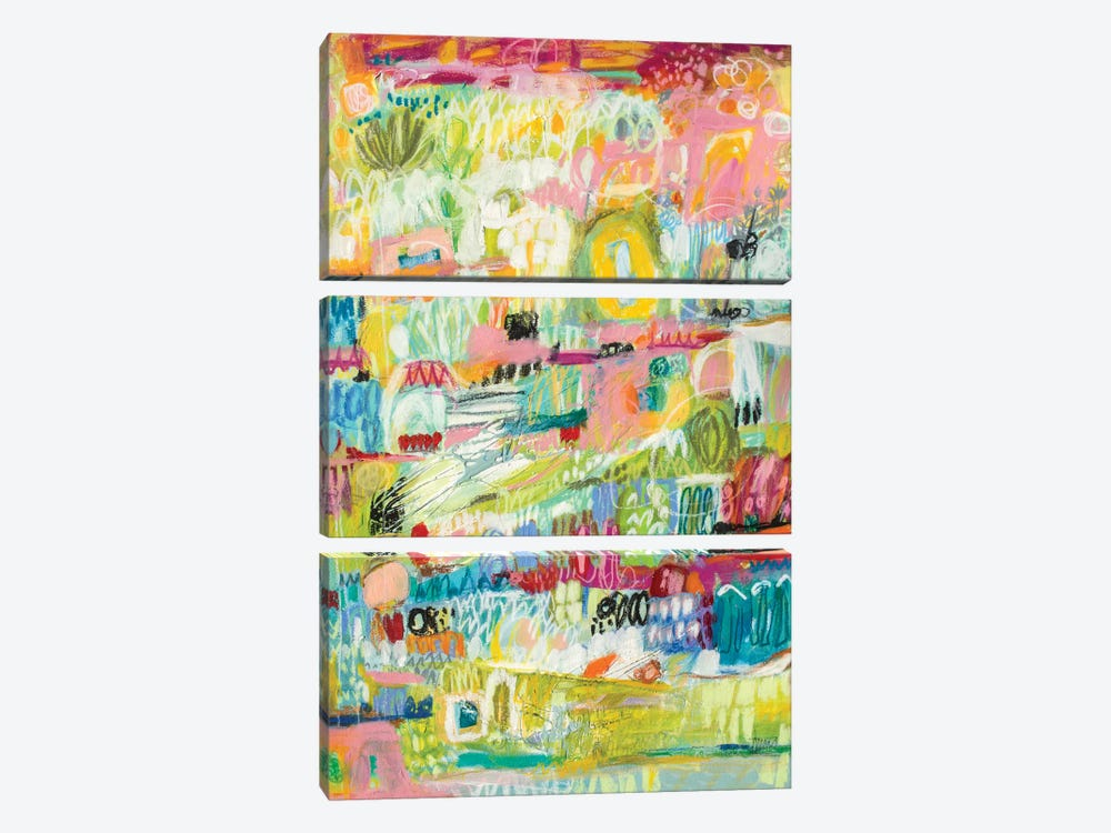 Boho Garden II by Karen Fields 3-piece Canvas Wall Art