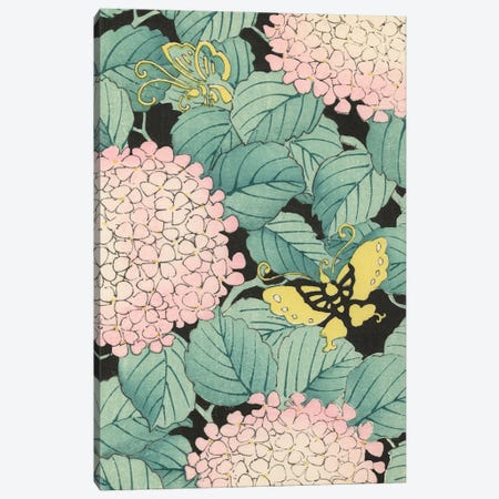 Japanese Floral Design I Canvas Print #KFY1} by Korin Furuya Canvas Artwork