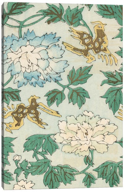Japanese Floral Design II Canvas Art Print