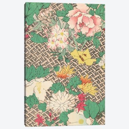 Japanese Floral Design IV Canvas Print #KFY3} by Korin Furuya Canvas Wall Art