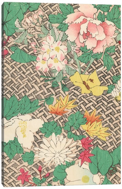 Japanese Floral Design IV Canvas Art Print