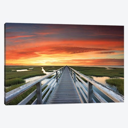 Greys Beach Sunset Canvas Print #KGE2} by Katherine Gendreau Canvas Art