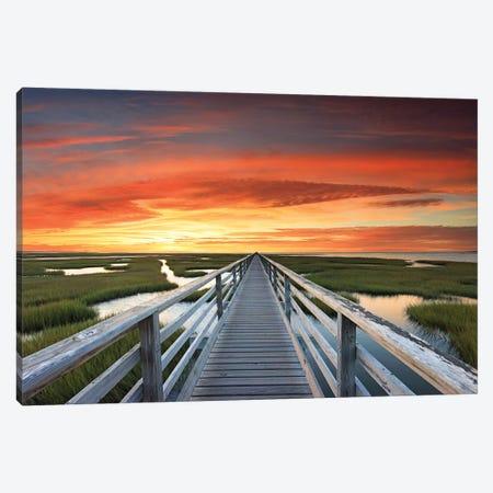 Greys Beach Sunset Canvas Print #KGE2} by Katherine Gendreau Canvas Art