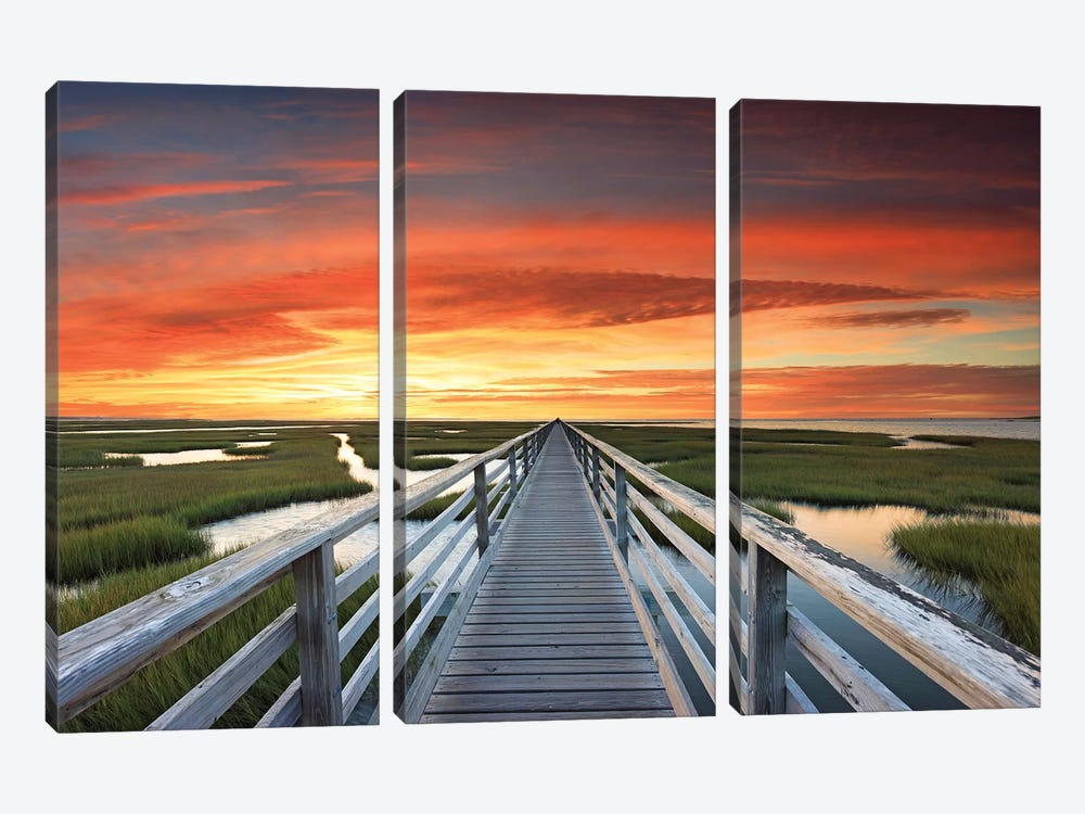 Greys Beach Sunset by Katherine Gendreau 3-piece Canvas Art