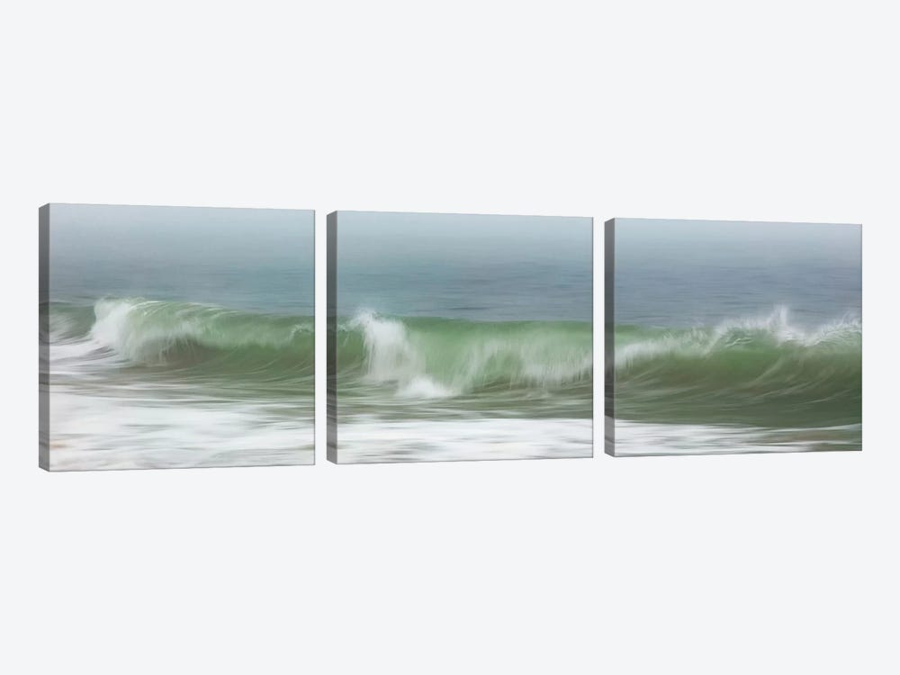 Surfside Beach In Fog by Katherine Gendreau 3-piece Canvas Art Print
