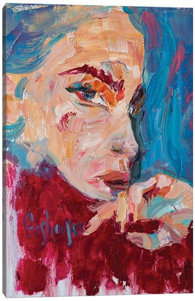 Portrait Of A Girl Canvas Art Print
