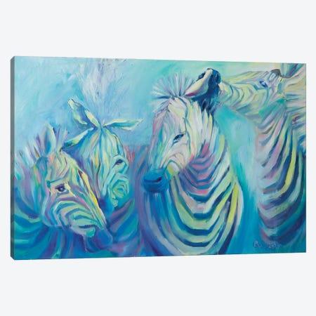 Zebras Canvas Print #KGH23} by Kristi Goshovska Canvas Print