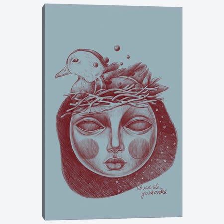 Fool Moon Canvas Print #KGH38} by Kristi Goshovska Canvas Art