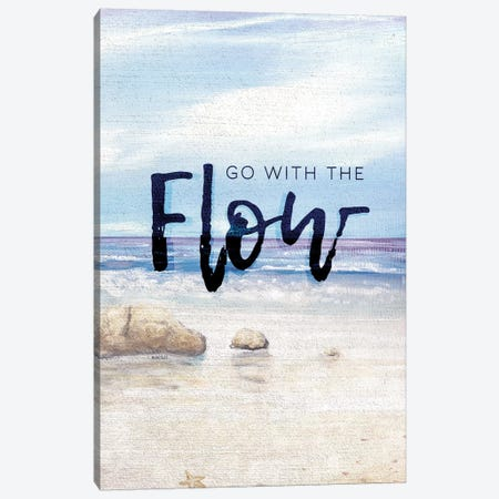 Go With The Flow Canvas Print #KGS15} by Kingsley Canvas Artwork