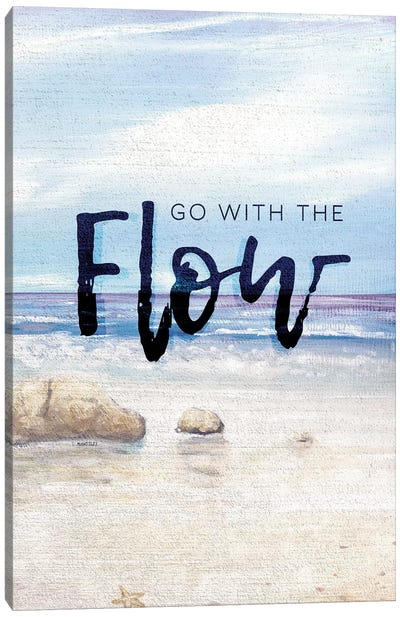 Go With The Flow Canvas Art Print