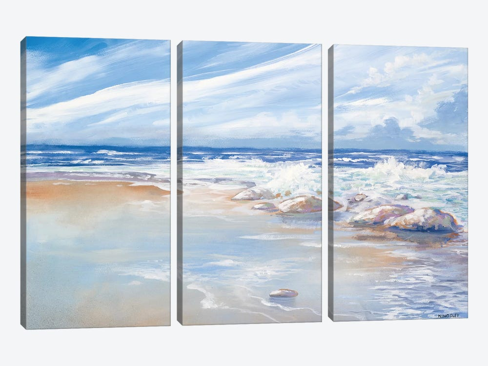Beach by Kingsley 3-piece Art Print