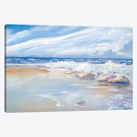 Beach Canvas Print #KGS1} by Kingsley Art Print