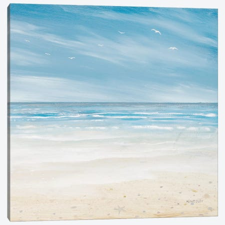 Misty Coastal Days I Canvas Print #KGS21} by Kingsley Canvas Art