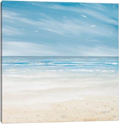 Misty Coastal Days I Canvas Art Print