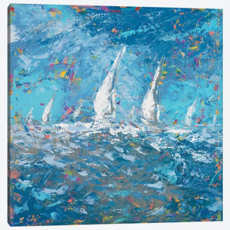 Sailing I Canvas Print #KGS24} by Kingsley Canvas Print