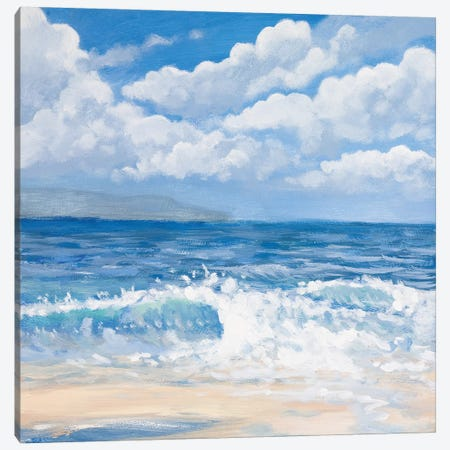 Waves I Canvas Print #KGS29} by Kingsley Canvas Wall Art