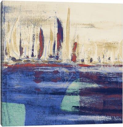 Blue Calm Waters Square I Canvas Art Print