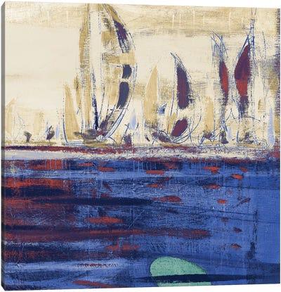 Blue Calm Waters Square II Canvas Art Print