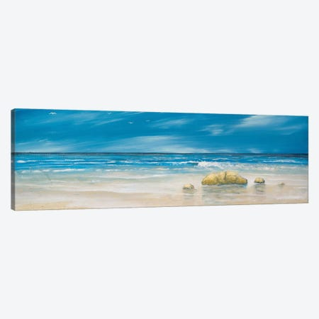 By The Shore Canvas Print #KGS9} by Kingsley Canvas Print