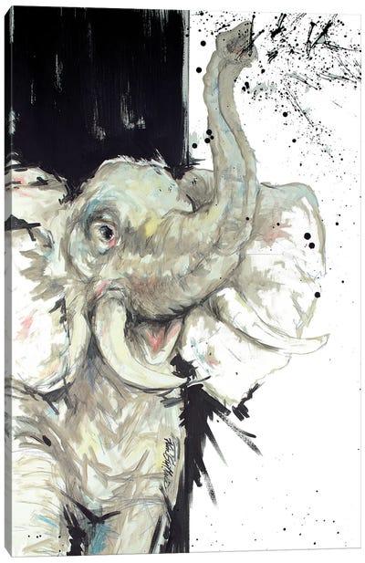 Toot Your Own Horn Elephant Canvas Art Print