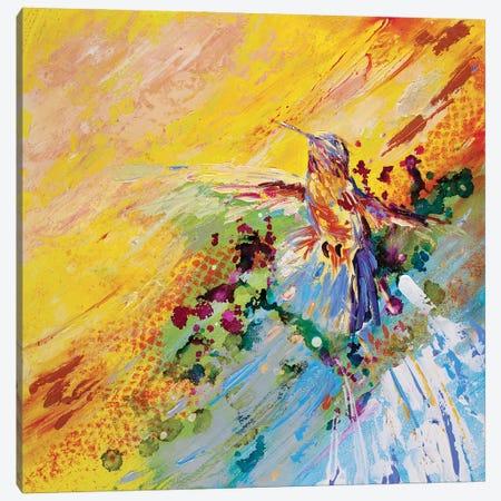 Humming Along Hummingbird Canvas Print #KGU13} by Kim Guthrie Canvas Print