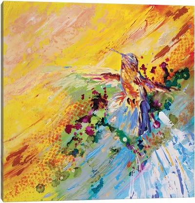 Humming Along Hummingbird Canvas Art Print
