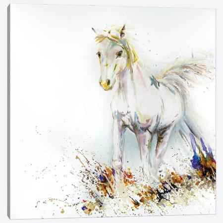 White Horse Starfire Canvas Print #KGU19} by Kim Guthrie Art Print
