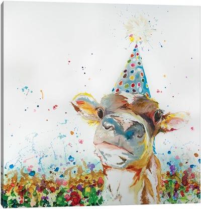 Elsa The Cow Has A Birthday Canvas Art Print