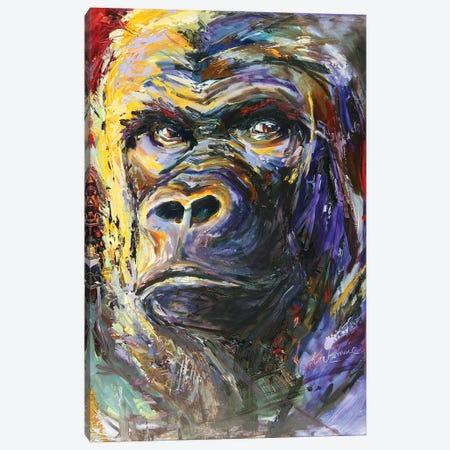 Gorilla Canvas Print #KGU22} by Kim Guthrie Canvas Art