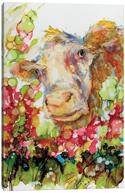 I Can Play Peek A Boo Til The Cow Comes Home Canvas Art Print
