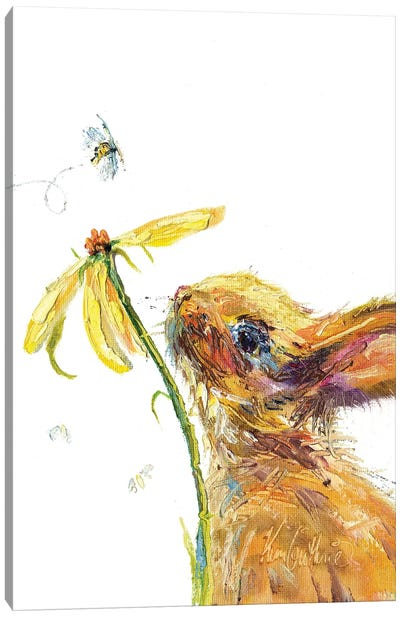 Bee And Bunny Canvas Art Print