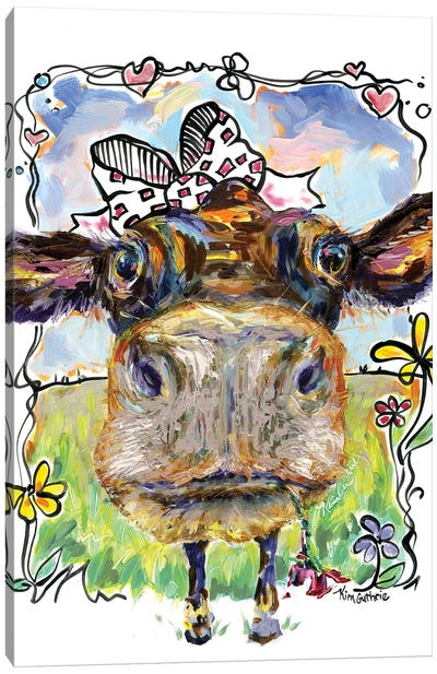 Party Animal Cow Canvas Art Print