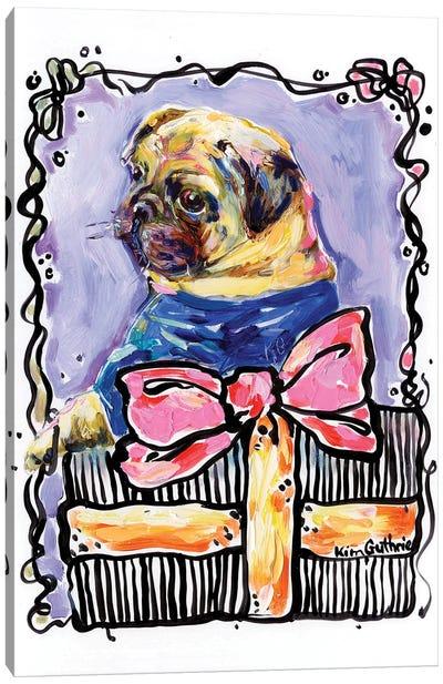Party Animal Pug Canvas Art Print