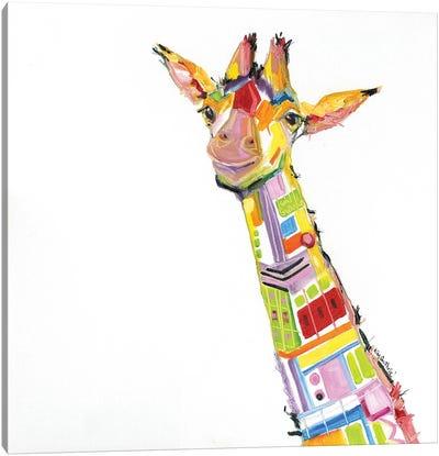 Fun Giraffe Oil Canvas Art Print
