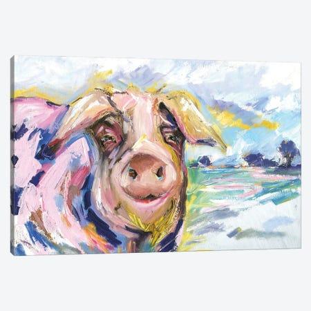 Pig Called Double Dutch Canvas Print #KGU54} by Kim Guthrie Canvas Wall Art